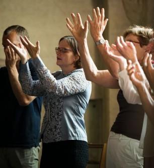 The singing workshop in Aboagora 2015. Photo Ossi Väätäinen
